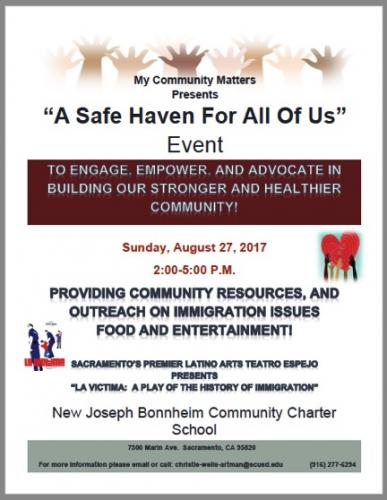 My Community Matters: A Safe Haven For All Of Us